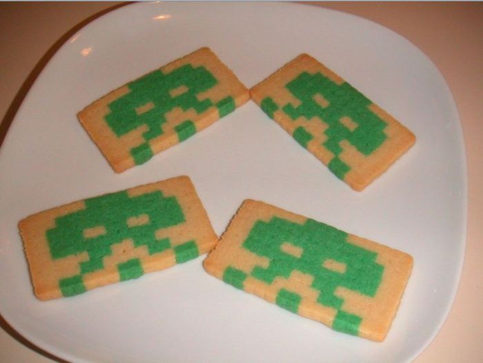 How to Make Space Invaders Cookies (13 pics + game)