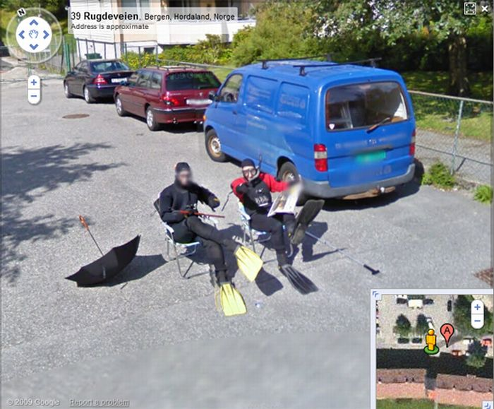 People from Norway Having Fun on Google Street View (5 pics)