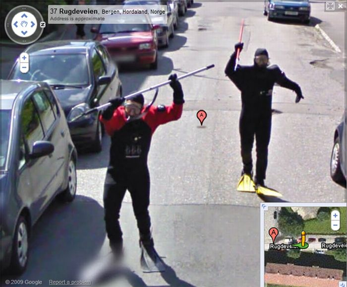 Google Maps Send To Car: People From Norway Having Fun On Google Street View (5 Pics