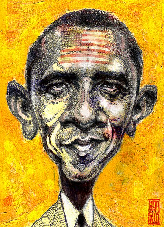 Drawn Obama (23 pics)