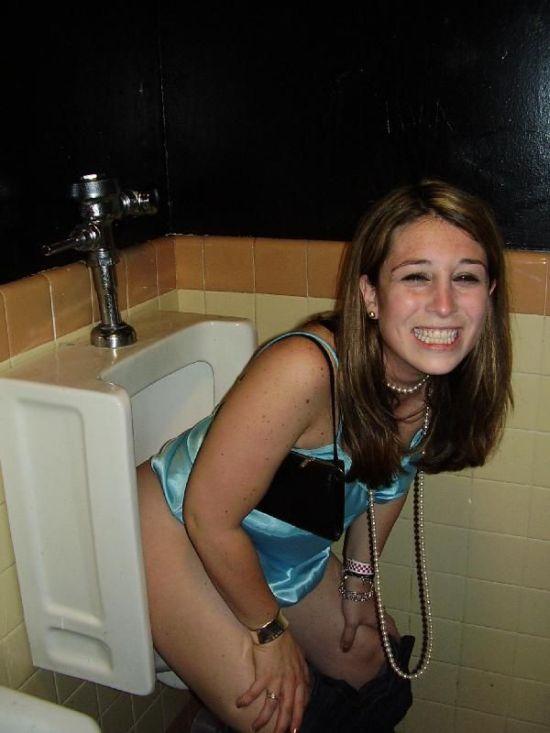 nude girls peeing on cock