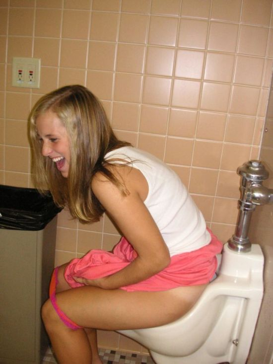 Naked girl peeing in public bathroom sink apologise, but