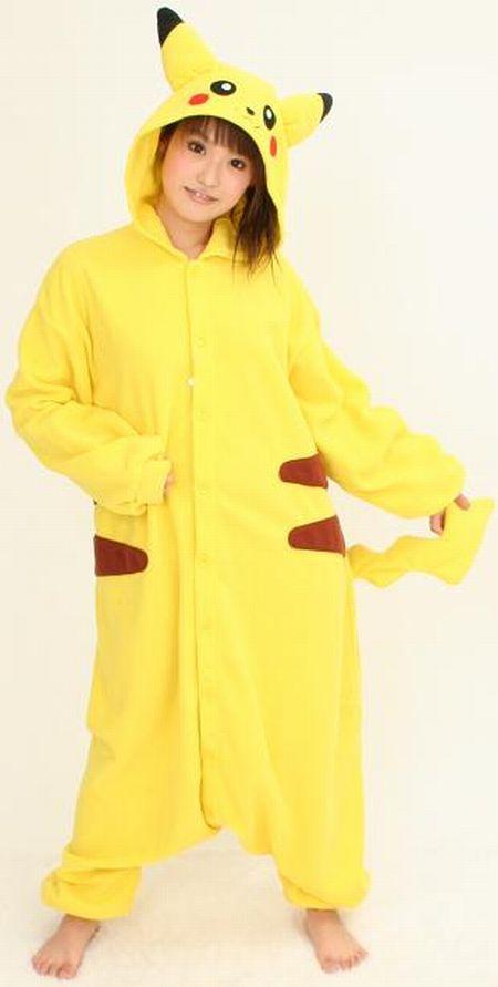 Hot girl in pikachu costume