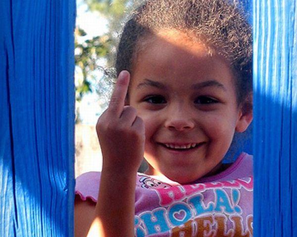 Kids Giving The Finger 50 Pics-2413