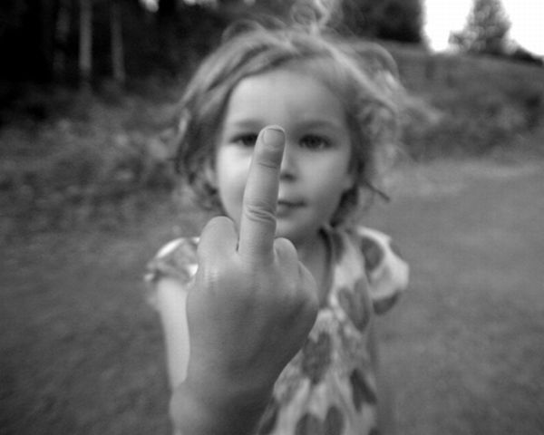 Kids Giving the Finger (50 pics)