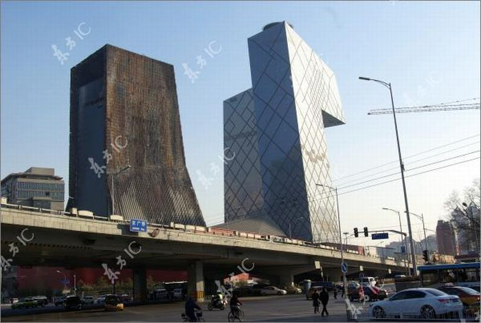 CCTV Tower One Year After the Fire (16 pics)