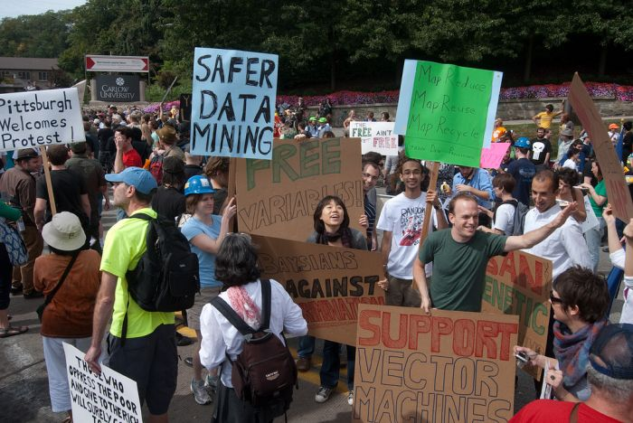 CMU machine learning dept members protest at G20 (27 pics)