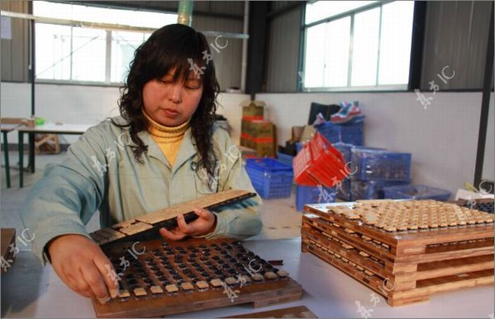 Chinese Eco-Friendly Bamboo Keyboards (12 pics)