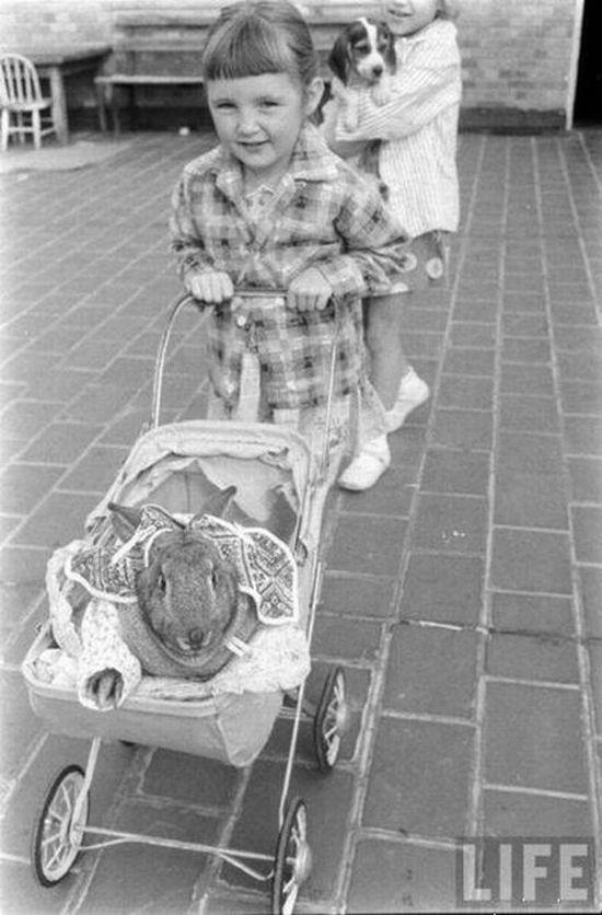Extrañas fotos antiguas de niños