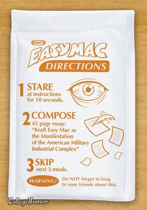 Easy Mac Instructions When You Are on Drugs (5 pics)