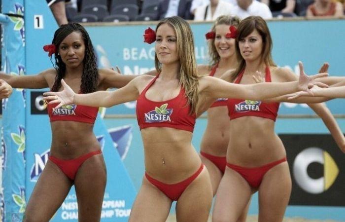 Beach Volleyball Cheerleaders Part Ii 27 Pics-9423