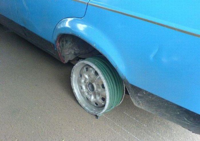 Hose as a Tire (5 pics)