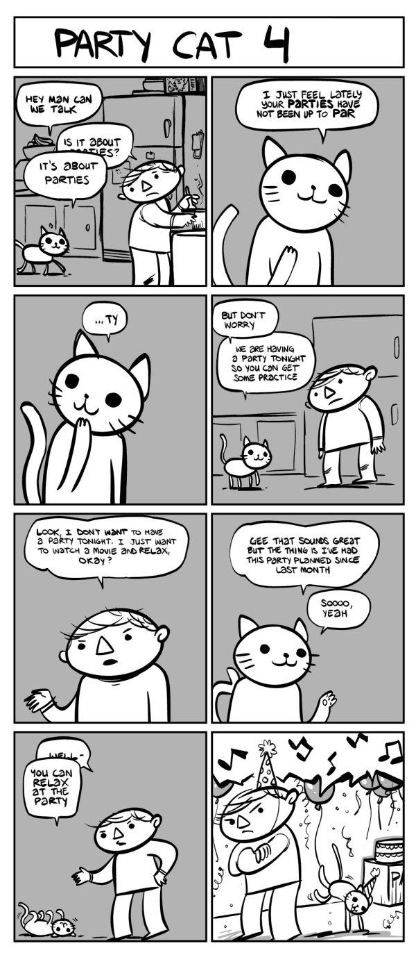 Party Cat Comics (6 pics)