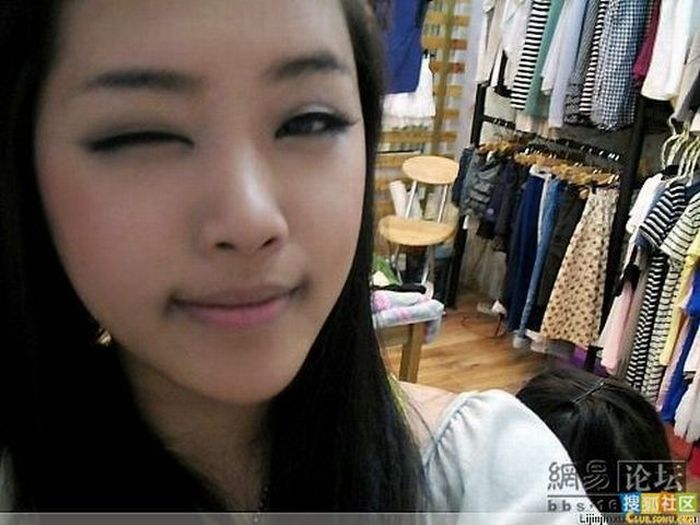 Asian Girl Before and After Makeup (13 pics)
