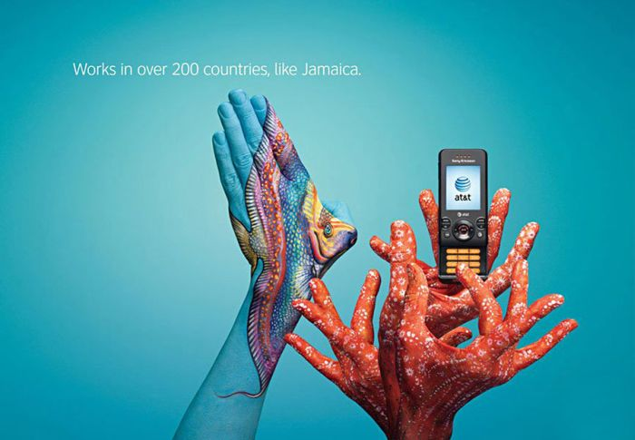 Painted Hands in Advertising (32 pics)