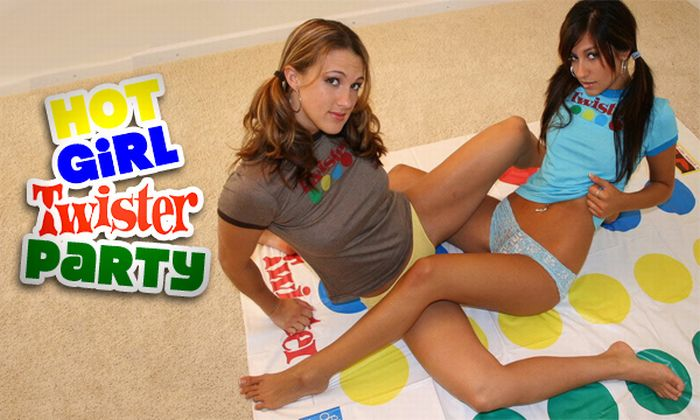Hot nude girls playing twister