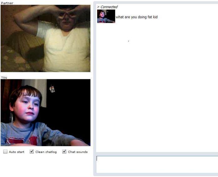 Boy chats