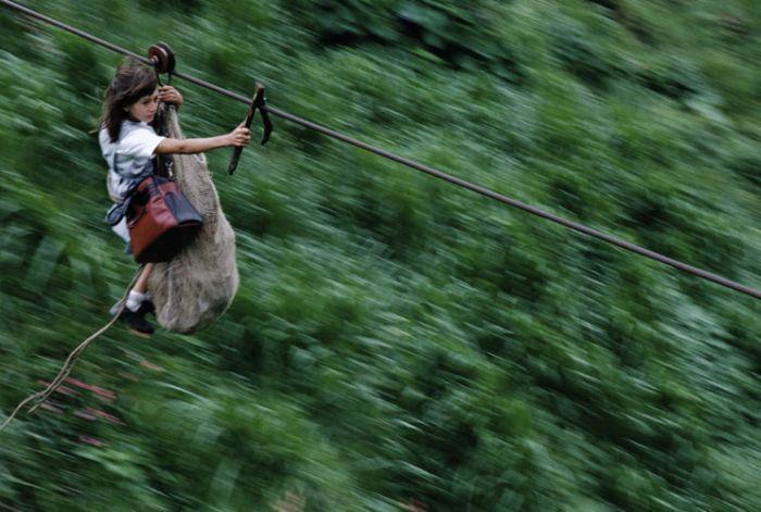 Zipline to School (8 pics)