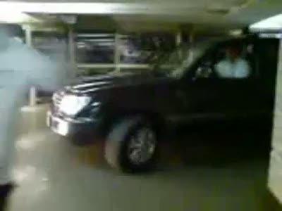 SUV Driving in a Subway in Moscow