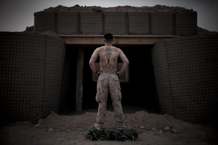 U.S. Marines Tattoos in Afghanistan (18 pics)