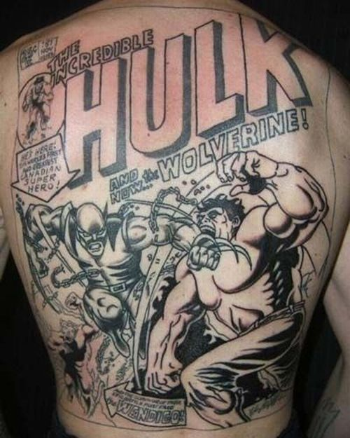 Superhero Tattoos (83 pics)