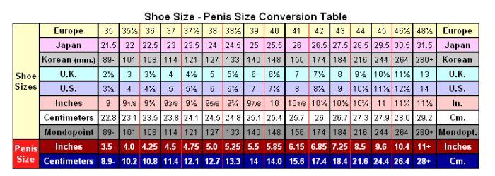 Penis Size Charts 4 Pics-4471