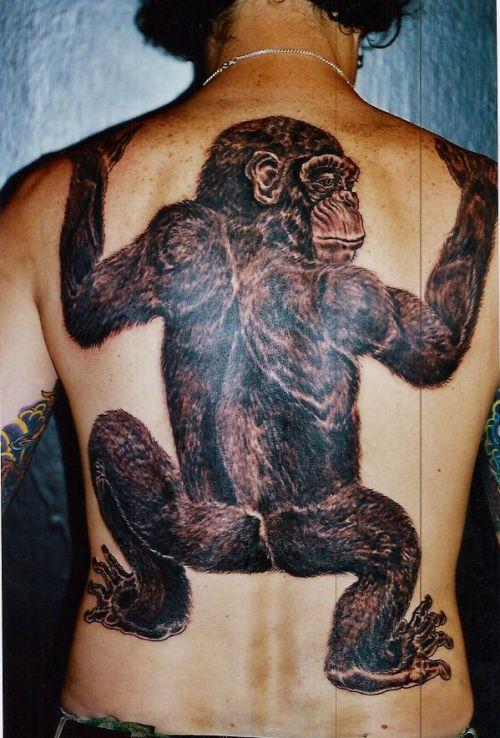 Funny Monkey Tattoos (20 pics)