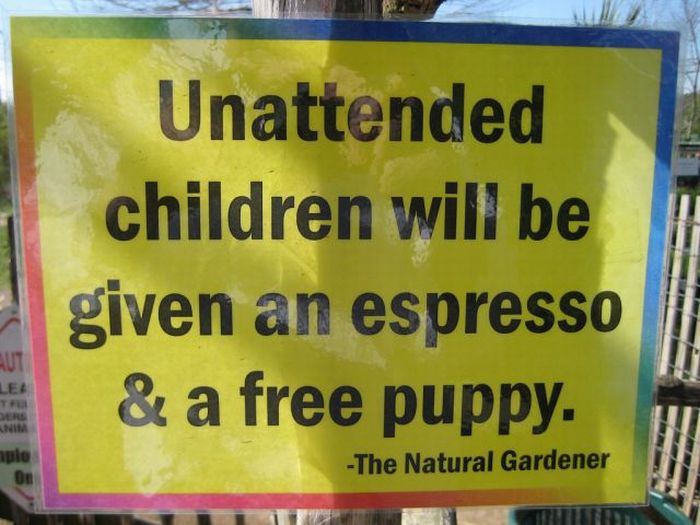 Unattended Kids Signs (26 pics)