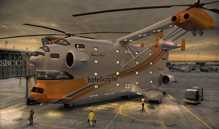 Hotelicopter (9 pics)