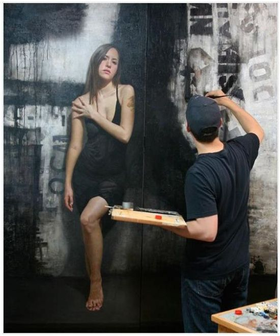 Ultra Realistic Paintings on the Wall (8 pics)