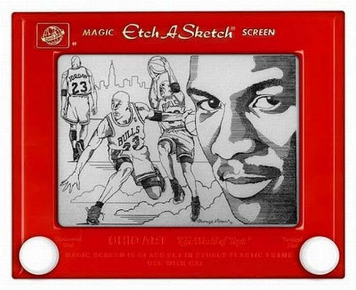 Impressive Etch A Sketch Art (27 pics)