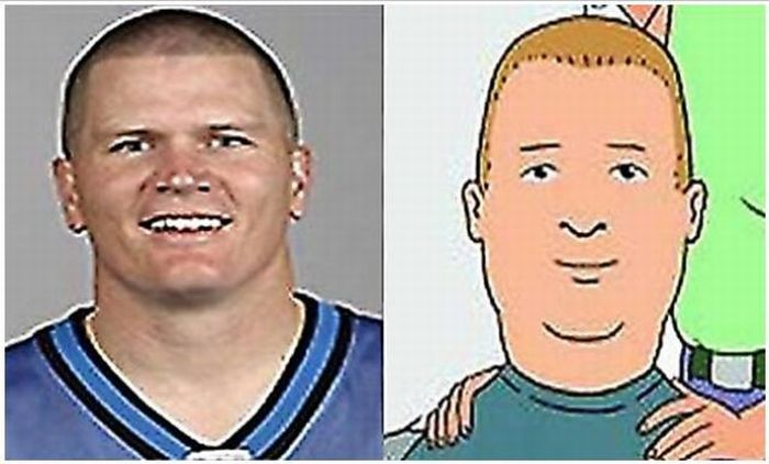 Cartoon Characters and Their Look-Alikes (25 pics)