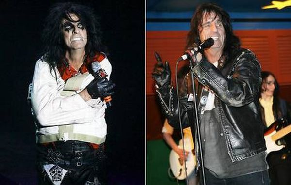 Rock Stars With and Without Makeup (11 pics)