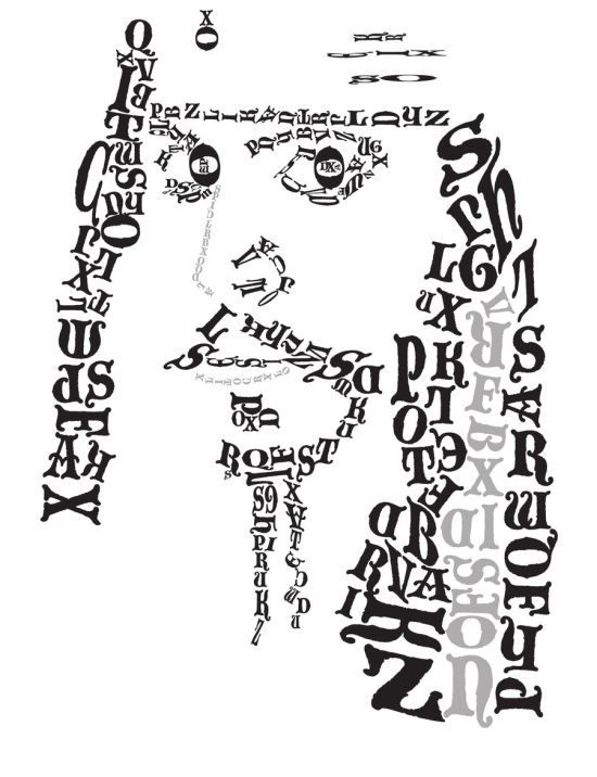 Beautiful Typographic Portraits (31 pics)
