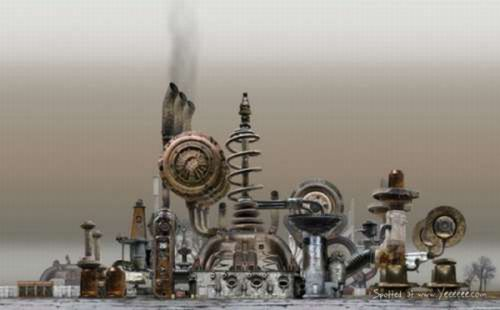 Steampunk Cities (29 pics)