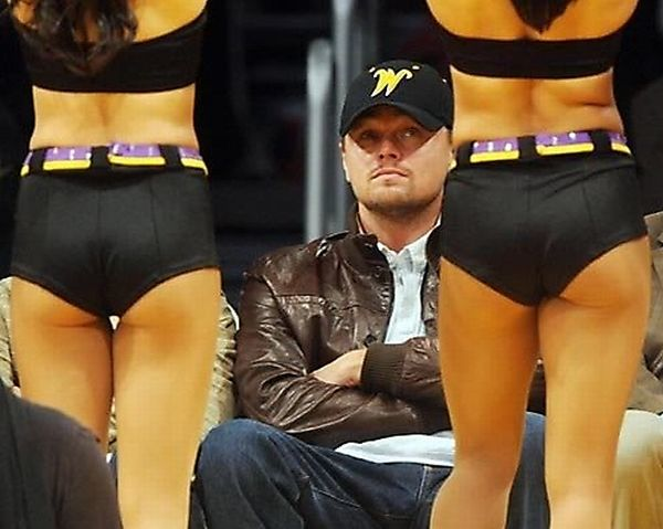 Top 10 Celebrities Caught Staring At Laker Girls (10 pics)