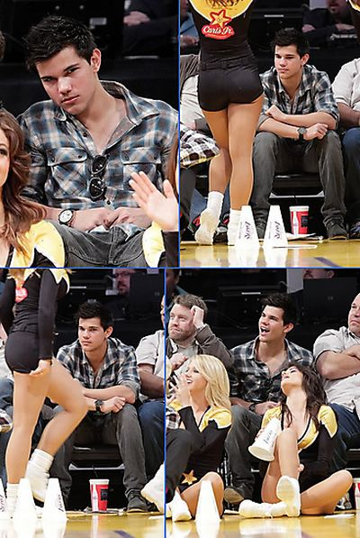Top 10 Celebrities Caught Staring At Laker Girls (10 pics)