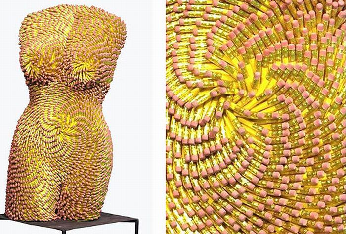 Female Torsos Made Out of Unusual Materials (13 pics)