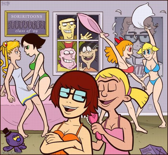 College Years of Cartoon Characters (7 pics)