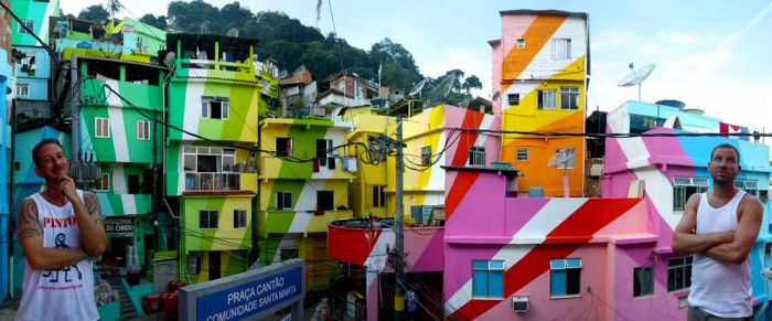 Colorful Favela Paintings in Santa Marta (11 pics)
