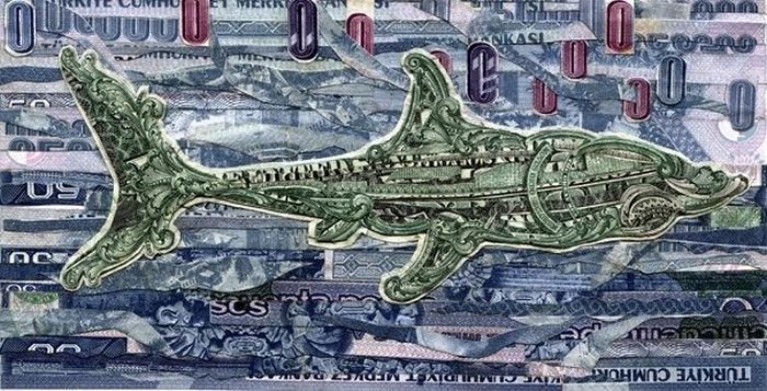 Pictures made Out of Bills (18 pics)