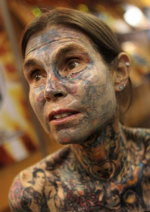 Julia Gnuse, the Most Tattooed Woman in the World (9 pics)