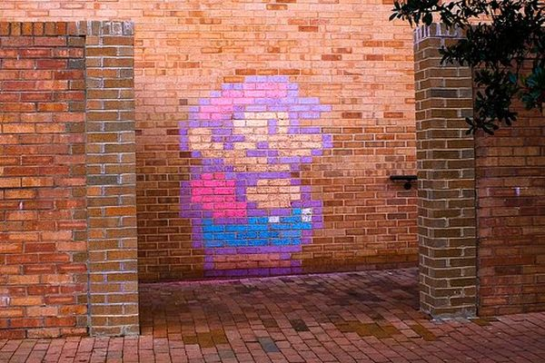 mario brick art 03 Mario Brick Art