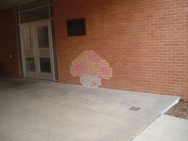 mario brick art 04 Mario Brick Art
