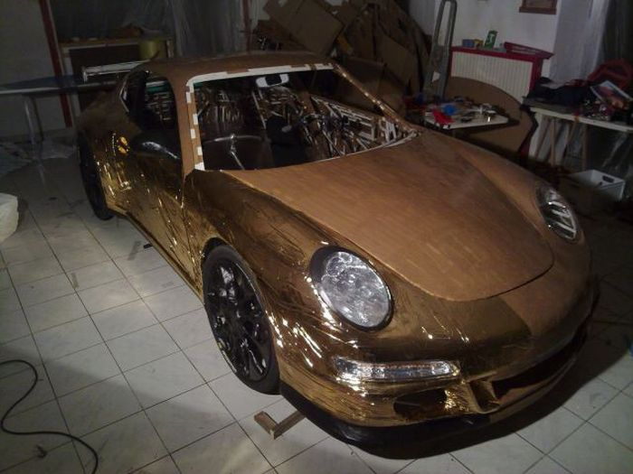 Amazing Eco-Friendly Gold Porsche (44 pics + video)