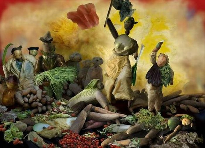 Famous Paintings Made of Vegetables (19 pics)