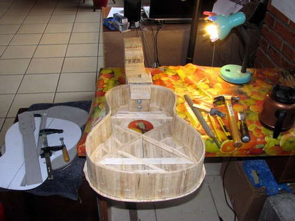 Guitar Made with Popsicle Sticks (15 pics)