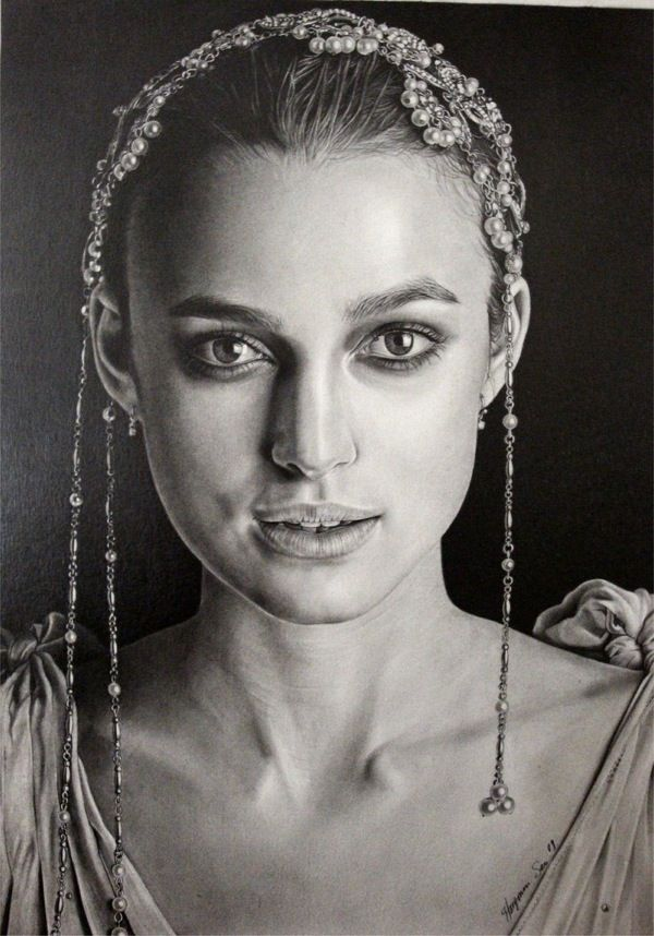 Incredible Female Portraits Drawn by Pencils (54 pics)