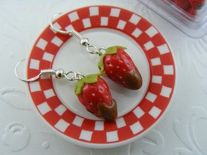 Food Shaped Pendant and Earrings (33 pics)