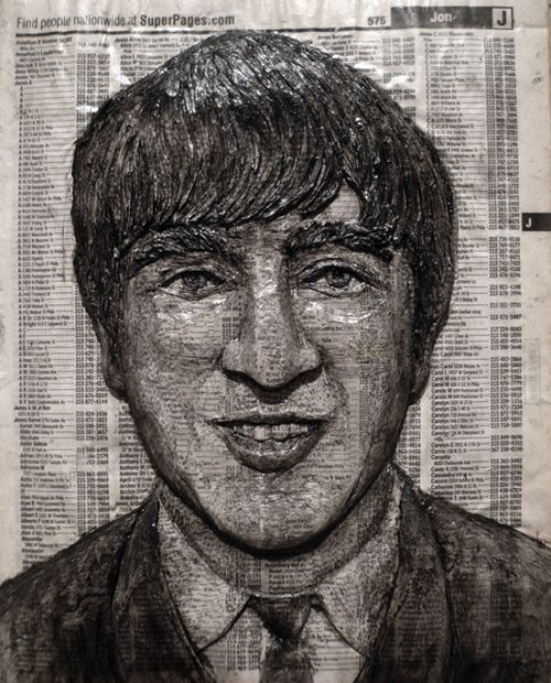 Phone Book Carvings of Celebrity Faces (10 pics)